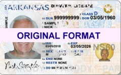 Arkansas design novelty template card id softwares format identity new